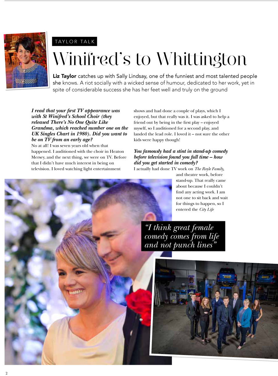 Liz chats to Sally Lindsay for The Cheshire Magazine