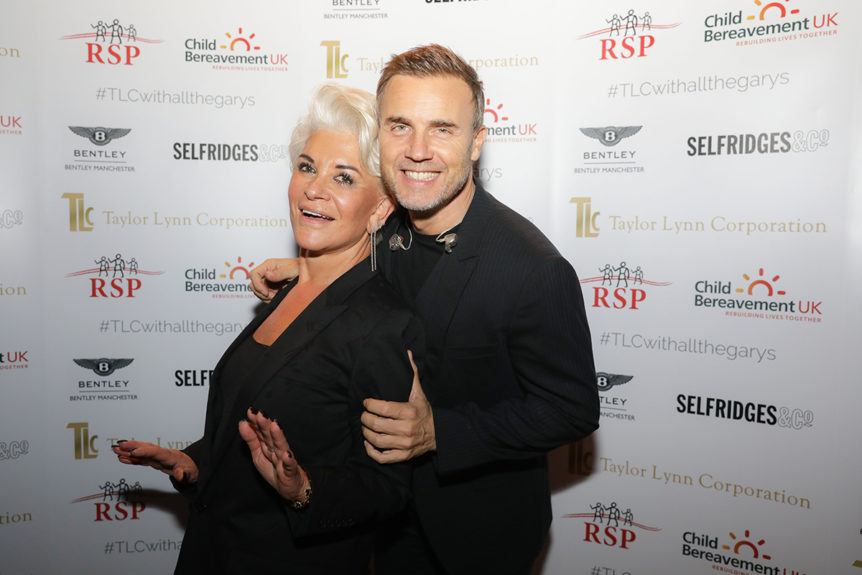 Liz Taylor and Gary Barlow