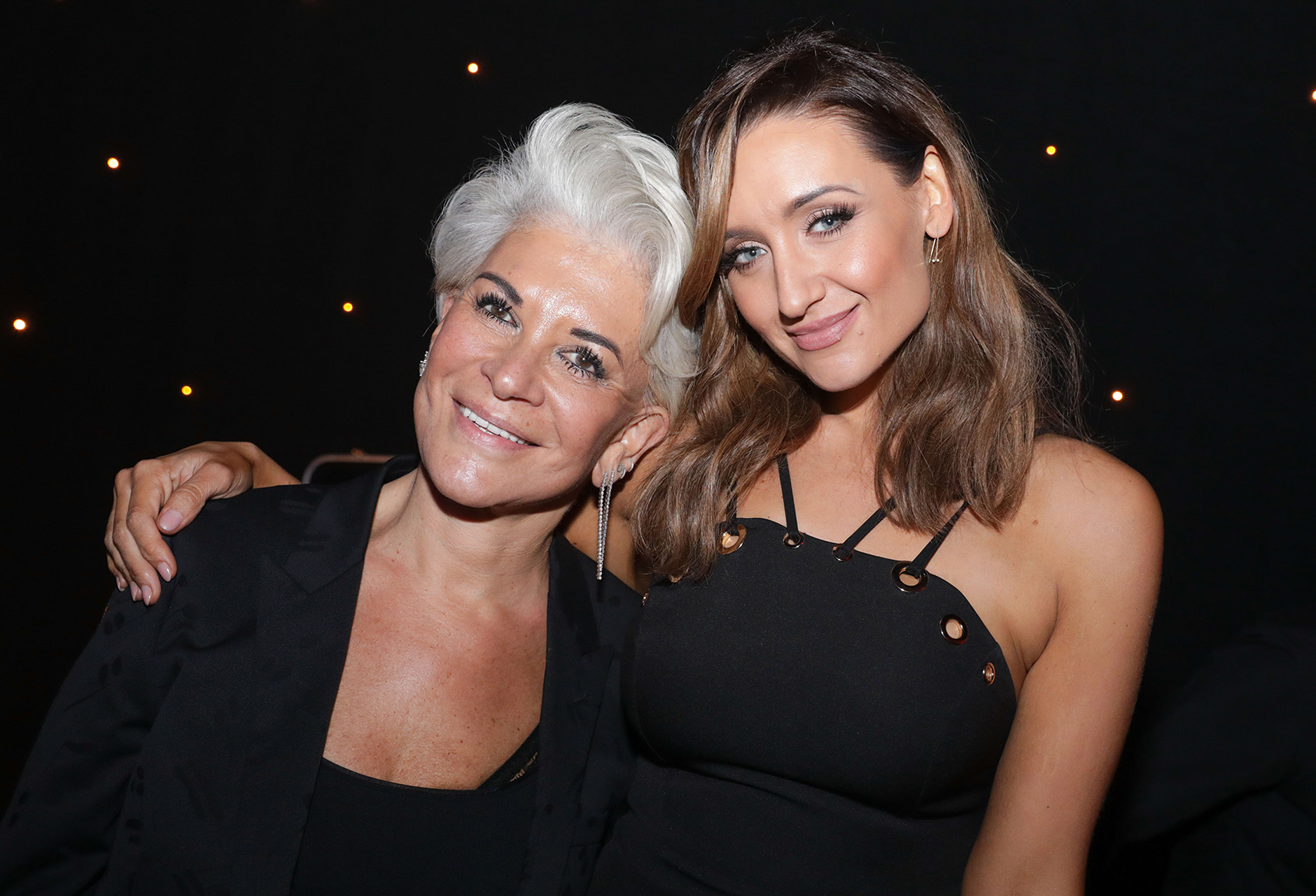 Liz Taylor with Cath Tyldesley
