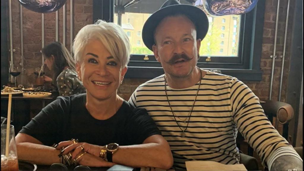 Simon Lycett with Liz Taylor