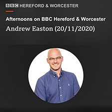 LTC Liz Taylor talks to Andrew Easton BBC Hereford and Worcester about ideas for the office Christmas party
