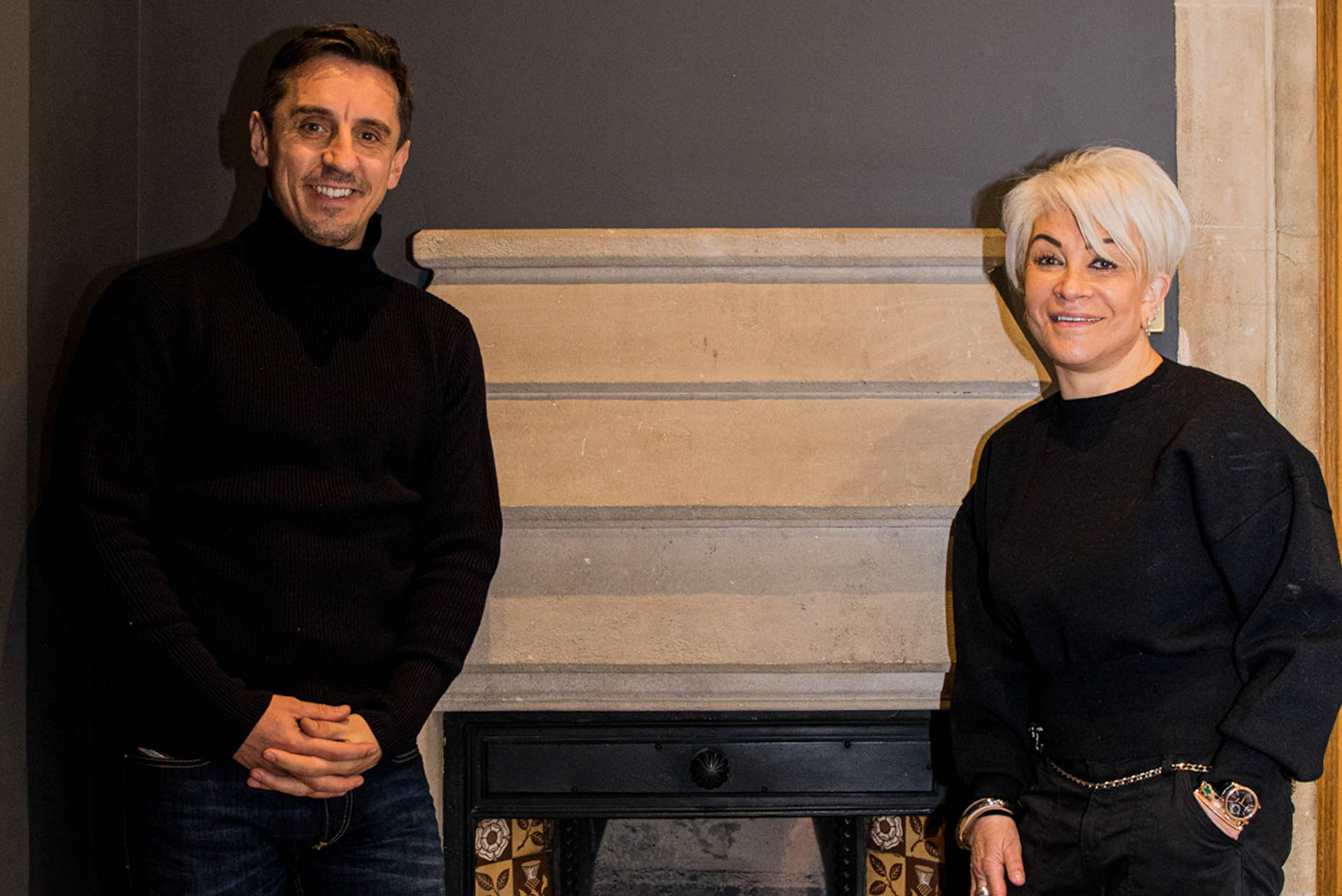 Gary Neville talks with Liz Taylor Events that Made Me 1